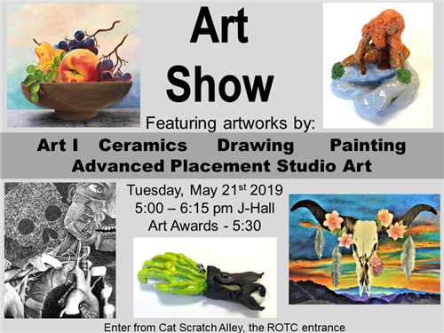 YCHS Art Show to be held May 21, 2019