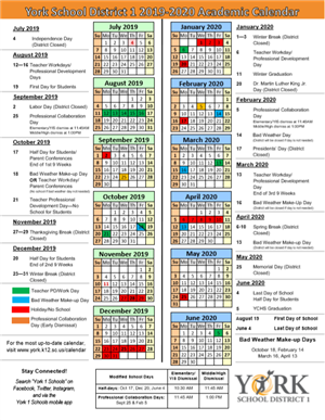 K12 Calendar 2020 2019 2020 School Calendar Approved