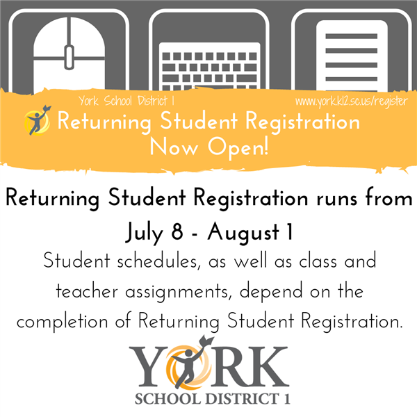 Returning Student Registration continues online.