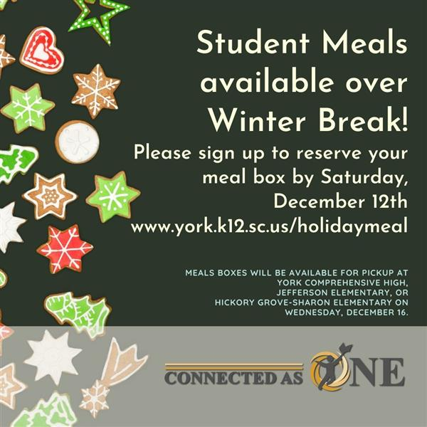 Student Meals Available Over Winter Break