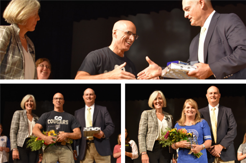 2019 Teacher of the year photo montage of people celebrating