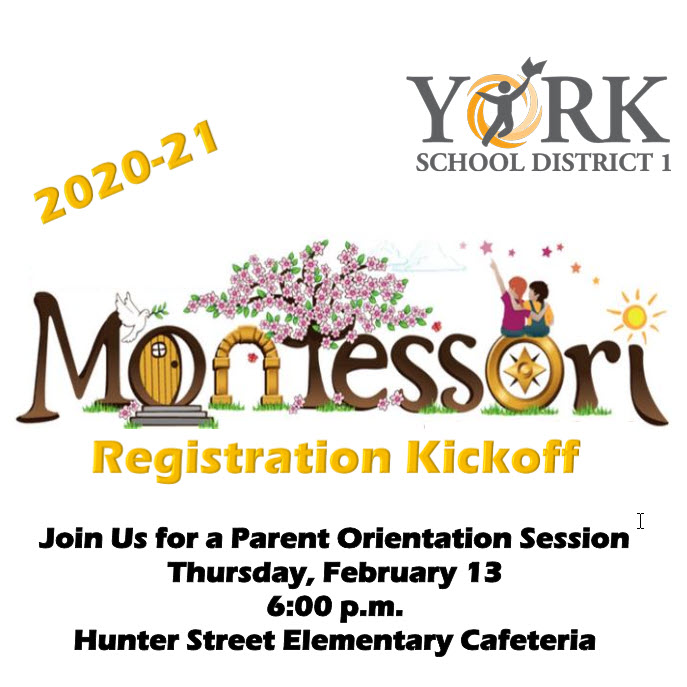 2020-21 Montessori Registration Kickoff
