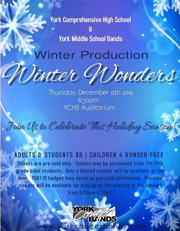 Winter Production YCHS YMS Bands