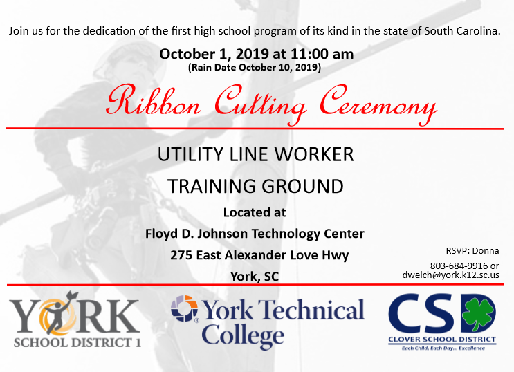 Utility Line Worker Invitation October 1, 2019